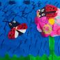 """07.04.2018 / """"Божьи коровки"""" в Творческой студии. Автор работы: Козлова Ксения (7 лет)"""