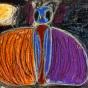 """18.04.2018 / """"Ночной мотылек"""" в Творческой студии. Автор работы: Козлова Ксения (7 лет)"""