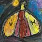 """18.04.2018 / """"Ночной мотылек"""" в Творческой студии. Автор работы: Туманова Алёна (7 лет)"""