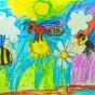 """21.04.2018 / """"Пчела, оса, шмель"""" в Творческой студии. Автор работы: Туманова Алёна (7 лет)"""