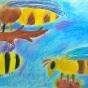 """21.04.2018 / """"Пчела, оса, шмель"""" в Творческой студии. Автор работы: Канышева Виктория (10 лет)"""