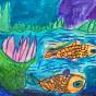 """28.04.2018 / """"Рыбки в речке"""" в Творческой студии. Автор работы: Козлова Ксения (7 лет)"""