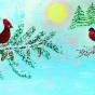 """13.12.2018 / Тема """"Красный кардинал"""" в Библиотеке Удельнинской (Группа №1)"""