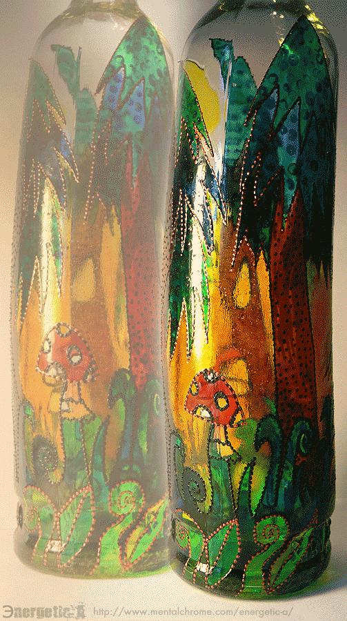 БУТЫЛКА ИНТЕРЬЕРНАЯ / ЛЕСНАЯ (арт. 000198)