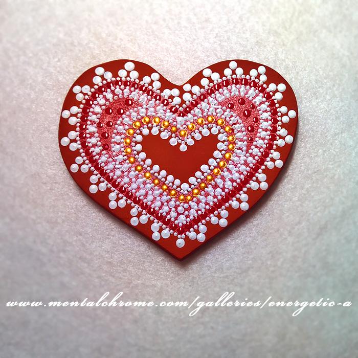 Магнит, керамика. «Сердечко» (арт. 000215)