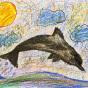 """10.12.2019 / """"Дельфин"""". Автор работы: Морозова Елизавета (8 лет)"""