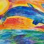 """15.12.2019 / """"Дельфин"""". Автор работы: Копыльцова Анастасия (8 лет)"""