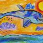 """15.12.2019 / """"Дельфин"""". Автор работы: Патрикеева Дарья (6 лет)"""