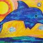 """15.12.2019 / """"Дельфин"""". Автор работы: Яблочкина Алена (9 лет)"""