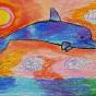 """15.12.2019 / """"Дельфин"""". Автор работы: Кадакова Анна (9 лет)"""