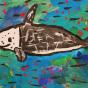 """24.12.2019 / """"Серый дельфин"""". Автор работы: Васильева Анна (6 лет)"""
