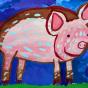 """15.11.2017 / """"Поросенок"""" в Творческой студии. Автор работы: Ижболдина Мария (7 лет)"""