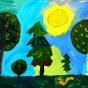 """06.12.2017 / """"Лес"""" в Творческой студии. Автор работы: Ижболдина Мария (7 лет)"""