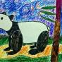 """11.02.2017 / """"Панда"""" в Творческой студии. Автор работы: Комиссарова Екатерина (7 лет)"""