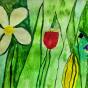 """17.02.2018 / """"Лужок"""" в Творческой студии. Автор работы: Макарова Анжелика (9 лет)"""