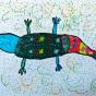 """24.02.2018 / """"Ящерка"""" в Творческой студии. Автор работы: Туманова Алёна (7 лет)"""