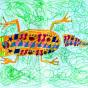 """24.02.2018 / """"Ящерка"""" в Творческой студии. Автор работы: Упорова Алиса (8 лет)"""