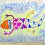 """25.02.2018 / """"Ящерка"""" в Творческой студии. Автор работы: Тыневье Варвара (9 лет)"""