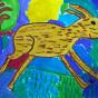 """20.02.2018 / """"Зайчик"""" в Творческой студии. Автор работы: Мулгачёва Инна (7 лет)"""