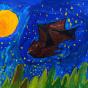 """06.03.2018 / """"Летучая мышь"""" в Творческой студии. Автор работы: Ижболдина Мария (7 лет)"""