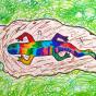 """18.03.2018 / """"Ящерка"""" в Творческой студии. Автор работы: Тарасова Анастасия (7 лет)"""