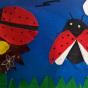 """07.04.2018 / """"Божьи коровки"""" в Творческой студии. Автор работы: Туманова Алёна (7 лет)"""