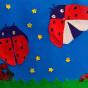 """07.04.2018 / """"Божьи коровки"""" в Творческой студии. Автор работы: Клемин Лев (8 лет)"""