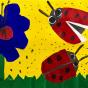 """08.04.2018 / """"Божьи коровки"""" в Творческой студии. Автор работы: Тарасова Анастасия (7 лет)"""