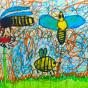 """21.04.2018 / """"Пчела, оса, шмель"""" в Творческой студии. Автор работы: Титова Анастасия (7 лет)"""