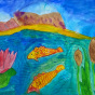 """29.04.2018 / """"Рыбки в речке"""" в Творческой студии. Автор работы: Канышева Виктория (10 лет)"""