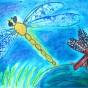 """06.05.2018 / """"Стрекоза"""" в Творческой студии. Автор работы: Тарасова Анастасия (7 лет)"""