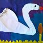 """12.05.2018 / """"Лебедь"""" в Творческой студии. Автор работы: Упорова Алиса (8 лет)"""