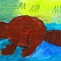 """15.05.2018 / """"Бобр"""" в Творческой студии. Автор работы: Ижболдина Мария (7 лет)"""