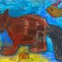 """15.05.2018 / """"Бобр"""" в Творческой студии. Автор работы: Упорова Алиса (8 лет)"""
