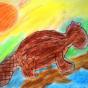 """15.05.2018 / """"Бобр"""" в Творческой студии. Автор работы: Канышева Виктория (10 лет)"""