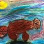 """16.05.2018 / """"Бобр"""" в Творческой студии. Автор работы: Козлова Ксения (7 лет)"""