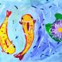 """23.05.2018 / """"Карпы"""" в Творческой студии. Автор работы: Канышева Виктория (10 лет)"""