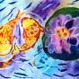 """23.05.2018 / """"Карпы"""" в Творческой студии. Автор работы: Туманова Алёна (7 лет)"""