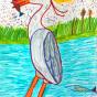 """26.05.2018 / """"Цапля"""" в Творческой студии. Автор работы: Клемин Лев (8 лет)"""