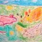"""25.12.2018 / """"Мышки"""". Автор работы: Рослякова Мария (6 лет)"""