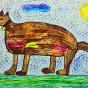 """19.01.2019 / """"Собака"""". Автор работы: Кляшторный Андрей (8 лет)"""