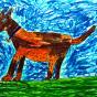 """19.01.2019 / """"Собака"""". Автор работы: Борисова Анастасия (7 лет)"""