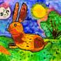 """01.02.2019 / """"Кролик"""". Автор работы: Сергеева Анастасия (6 лет)"""