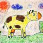 """05.02.2019 / """"Коровка"""". Автор работы: Сергеева Анастасия (6 лет)"""