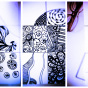 """15.10.2017 / Мастер-класс """"Зентангл"""" в Творческой студии. Автор работы: Стрижкина Галина Митрофановна"""