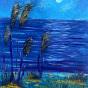 """25.03.2018 /  """"Ночь на озере"""" в Творческой студии. Автор работы: Андреева Таисия николаевна"""