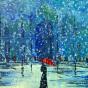 """17.04.2018 / """"Дама под зонтом"""" в Творческой студии. Автор работы: Кузьмина Марина Акоповна"""