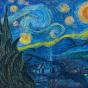 """29.05.2018 / """"Ван Гог. Звездная ночь"""", копия пастелью в Творческой студии. Автор работы: Сиротенко Марина Болеславовна"""