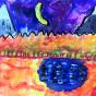 """11.11.2017 / Мастер-класс """"Осенний пейзаж с озером"""" в Библиоцентре детского чтения"""