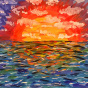 """13.09.2018 / Тема """"Закат на море"""" в Библиотеке Удельнинской (Группа №2)"""